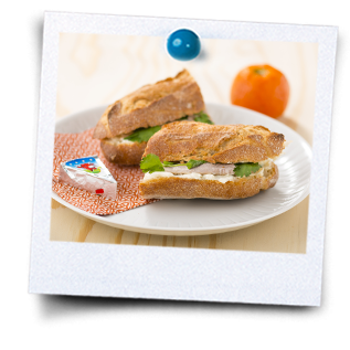 Warme sandwich met varkenslapjes
