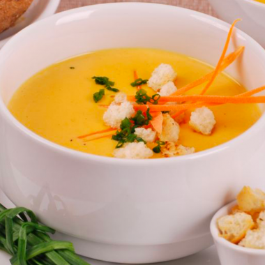 Soupe de carotte et curry