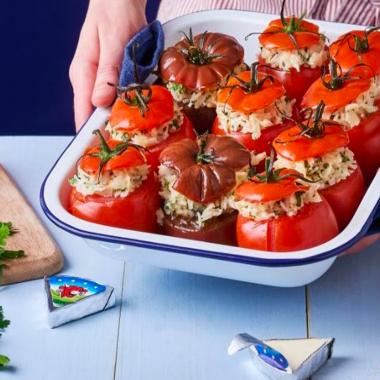 Tomates farcies aux herbes fraîches